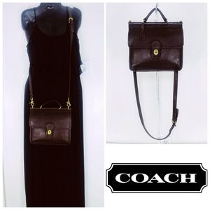 Coach Vintage Mahogany Leather Willis Crossbody